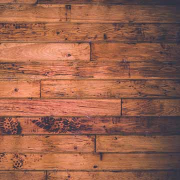 Rustic-looking hardwood with knots and color variations
